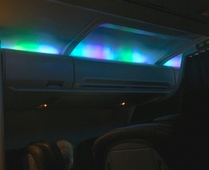 Iceland Air's version of the Northern Lights