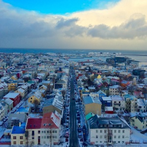 The view from Hallgrimskirkja
