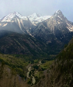 View of the San Juan Mountains, along the Colorado Trail