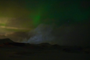 One of our shots of the Aurora (I'm horrible at night photography)