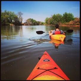 Kayaking in Stinchcomb