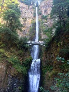 The iconic Multnomah Falls